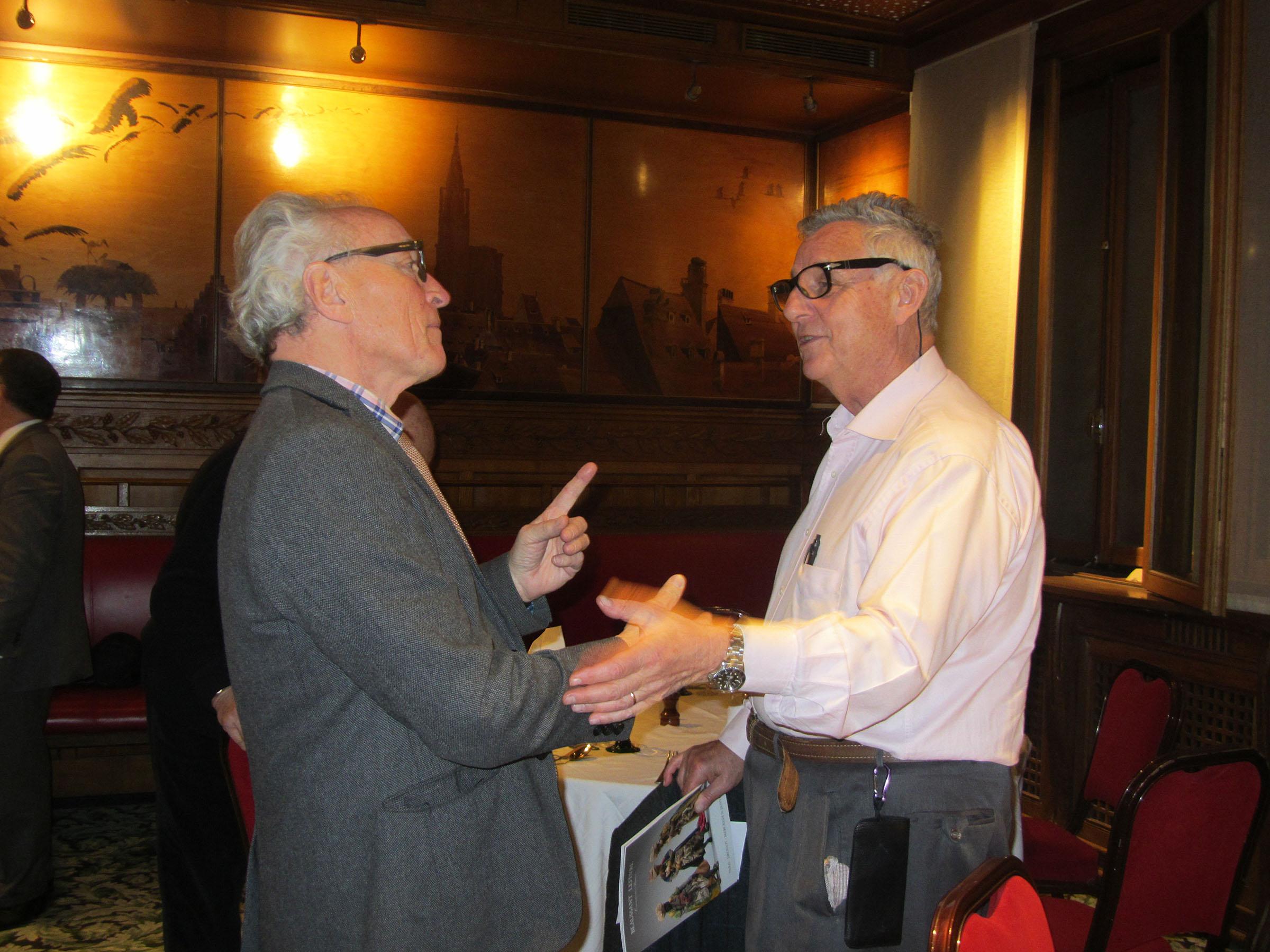 Georges Offenstadt lors d'une AG de l'association en 2018