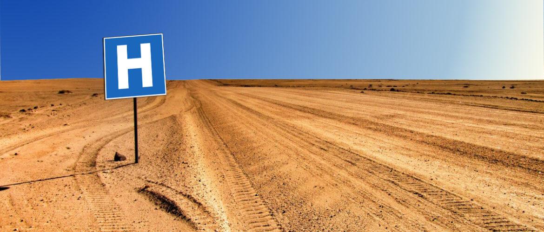 Route dans le désert