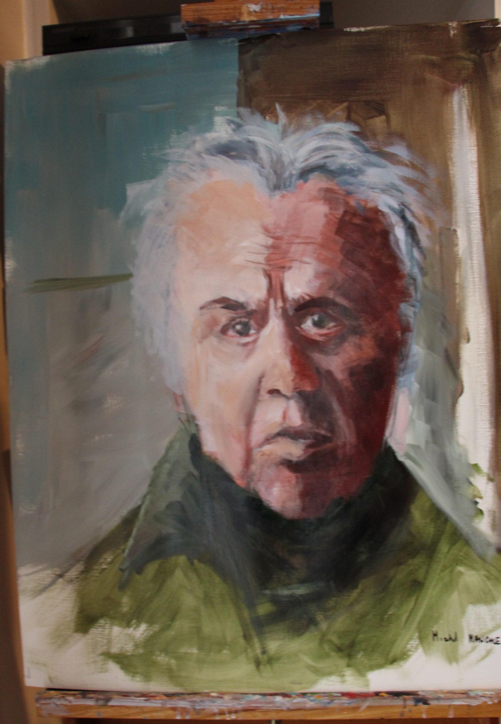 Voici une pièce de notre  Ami Michel MANCRET, qui vient de réaliser un portrait d'Alain LAUGIER, le fondateur de notre association.